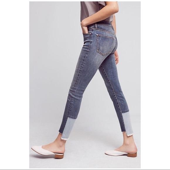 7c7b2387e58fa4 Anthropologie Denim - Pilcro Script High Rise High Low Hem Skinny Jeans